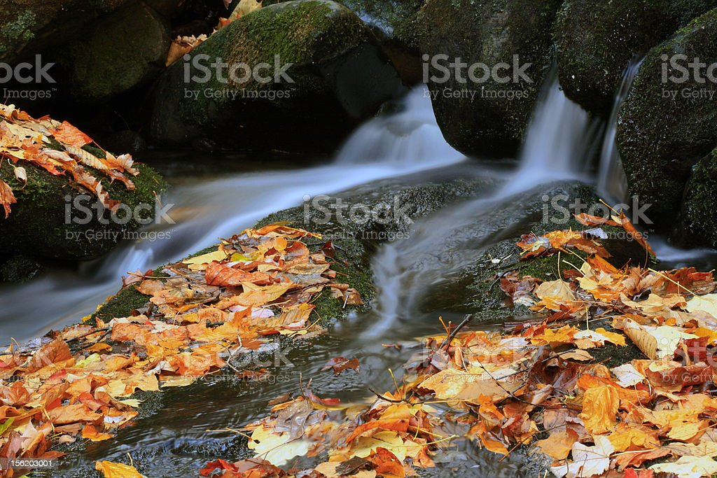 autumn river cascade royalty-free stock photo