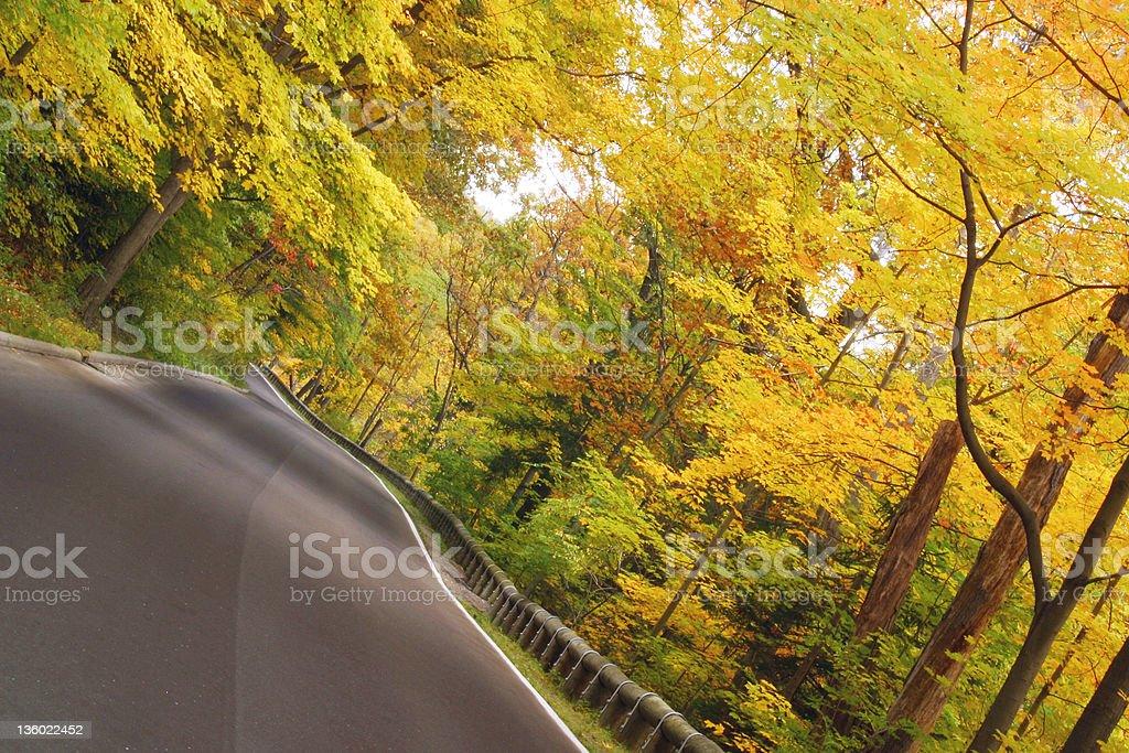 Autumn Road 3 - Youngstown, Ohio stock photo