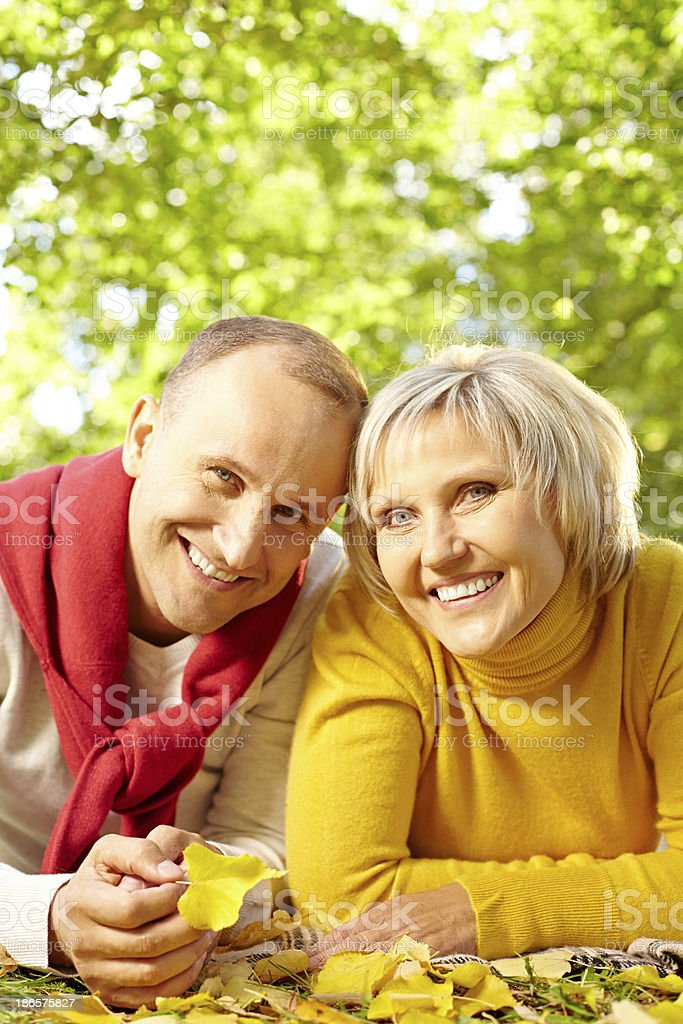 Autumn romance royalty-free stock photo