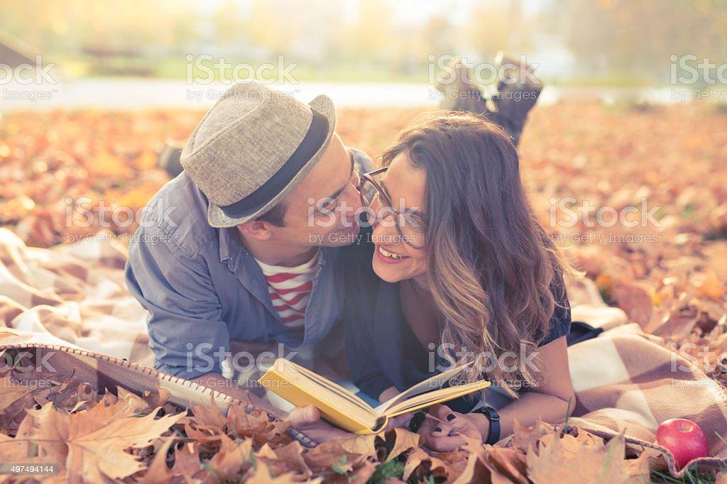 Autumn Romance stock photo