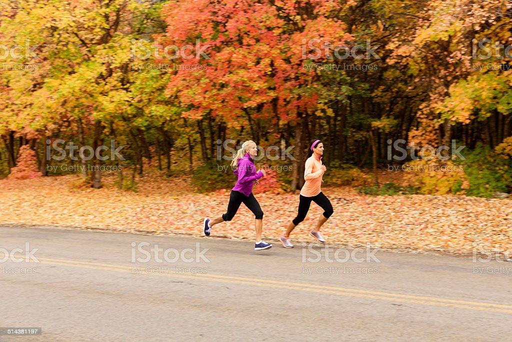 Autumn Run stock photo