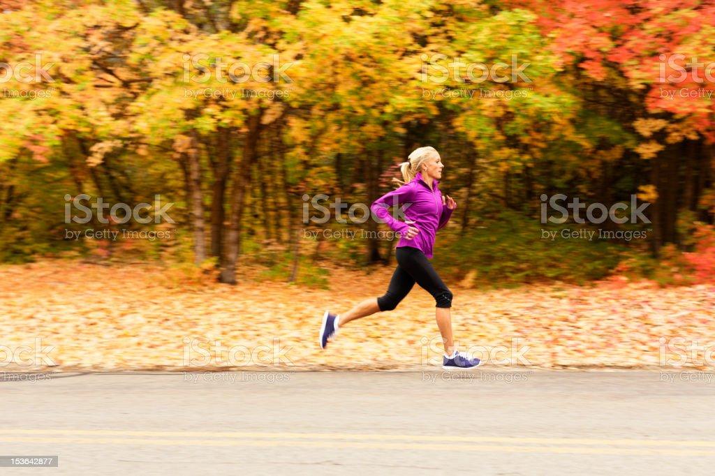Autumn Runner stock photo