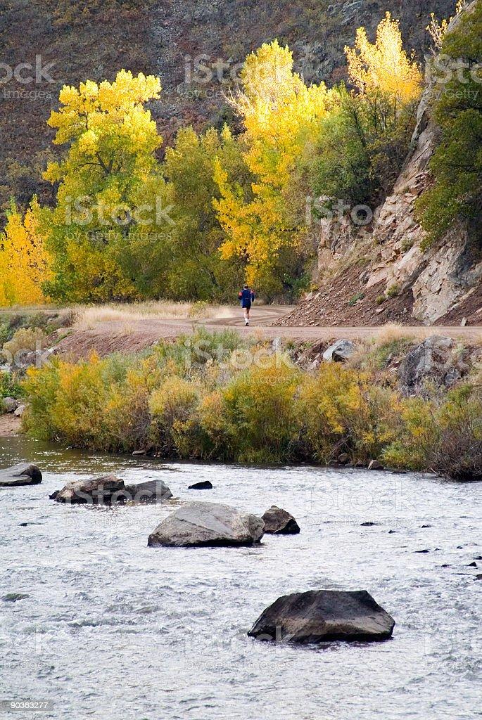 Autumn Runner royalty-free stock photo