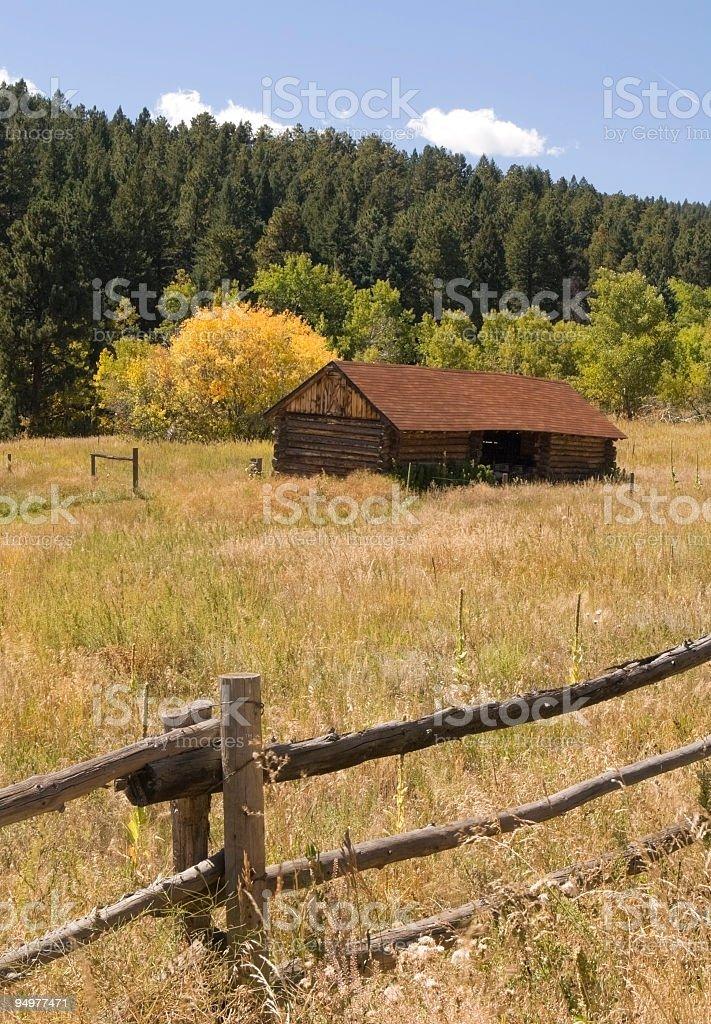 Autumn & Rural Colorado stock photo