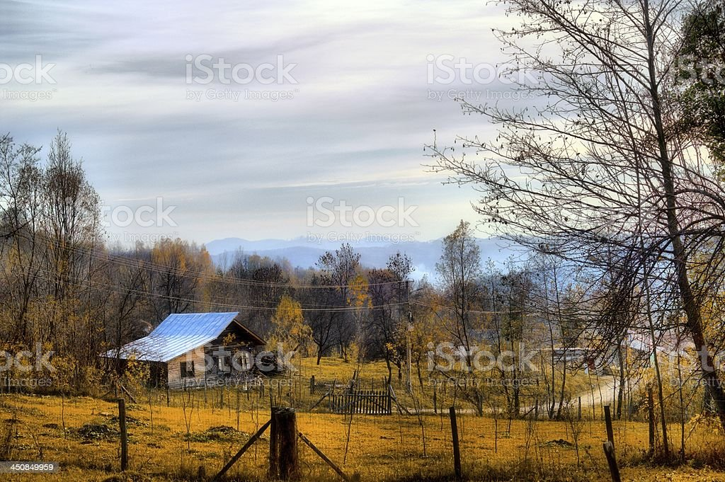 Autumn Rural Landscape stock photo