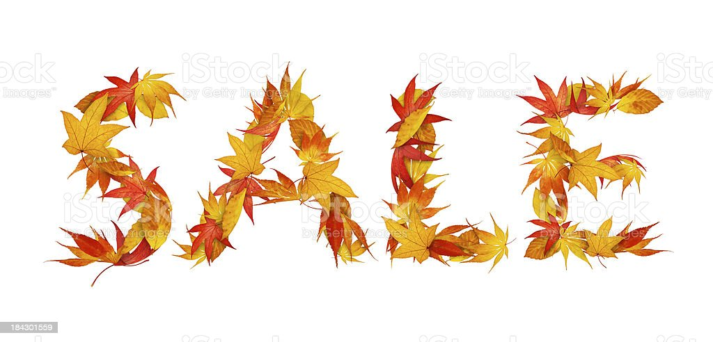 Autumn Sale royalty-free stock photo
