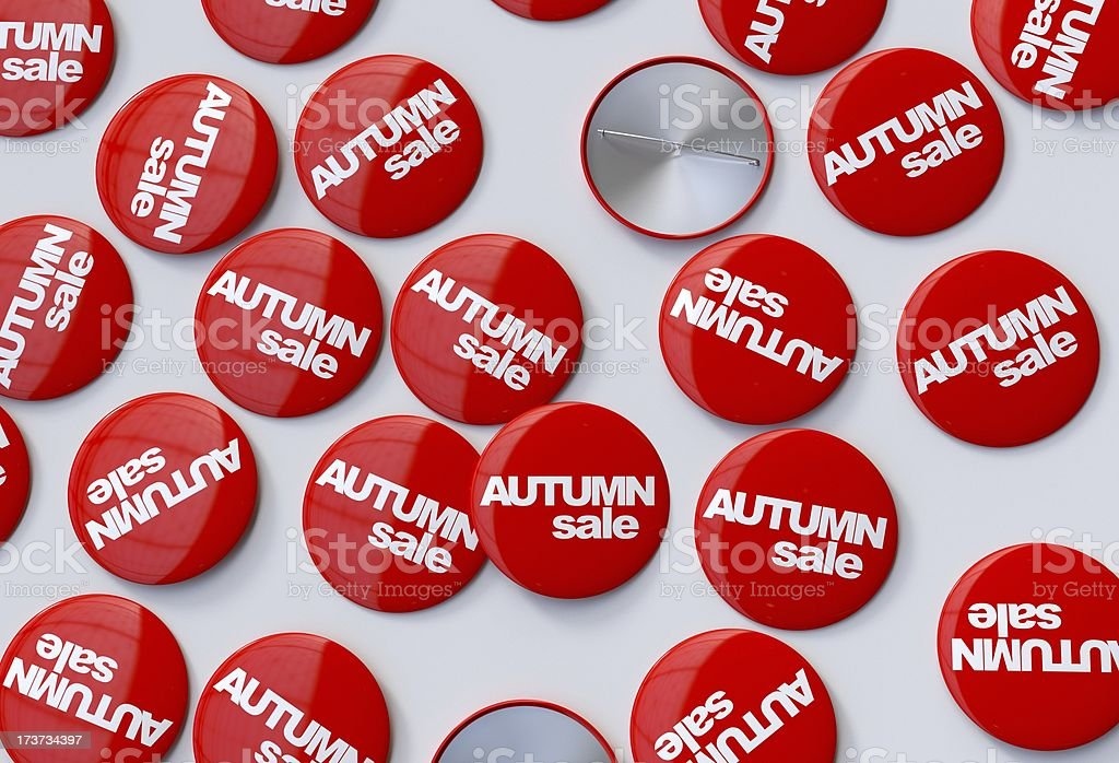 Autumn sale pins royalty-free stock photo