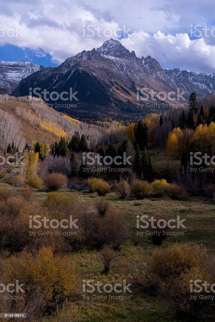 Autumn San Juan Mountains Colorado stock photo