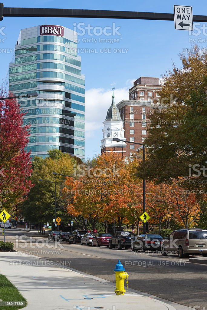 Downtown Knoxville in autumn royalty-free stock photo