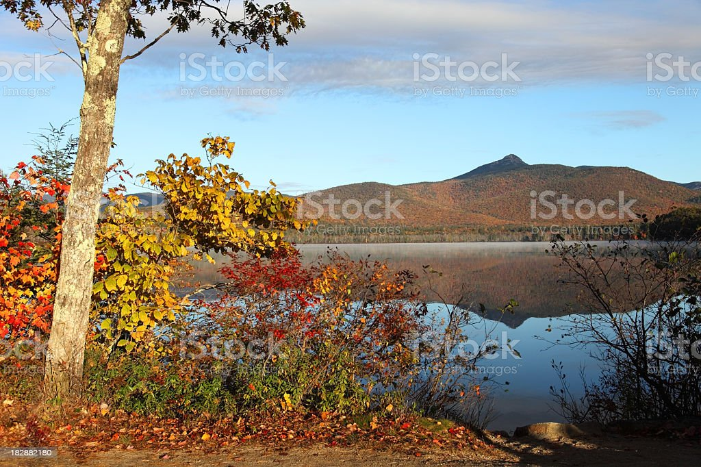 Autumn Scenery in New Hampshire stock photo