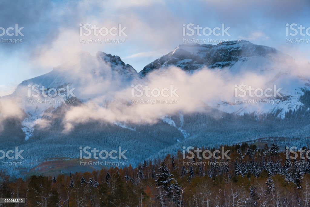 Autumn Scenery in the Rocky Mountains of Colorado. stock photo