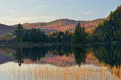 Autumn scenery of Lake Monroe in Canada