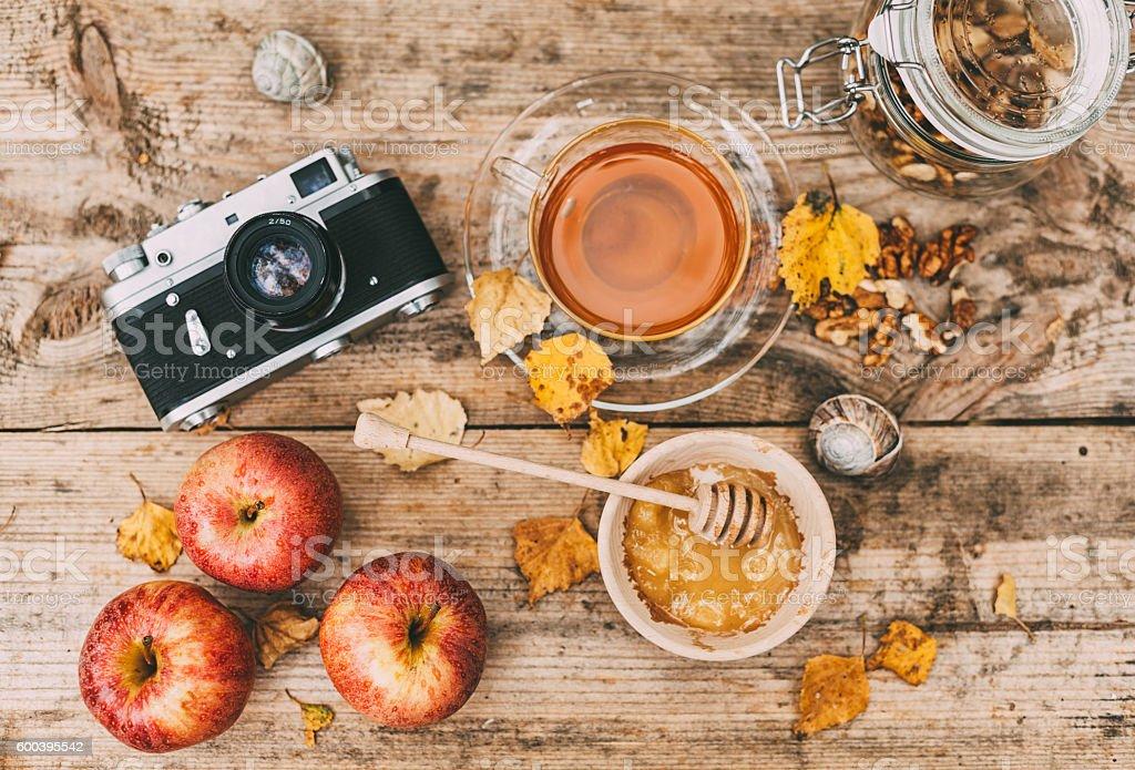 Autumn season ahead stock photo