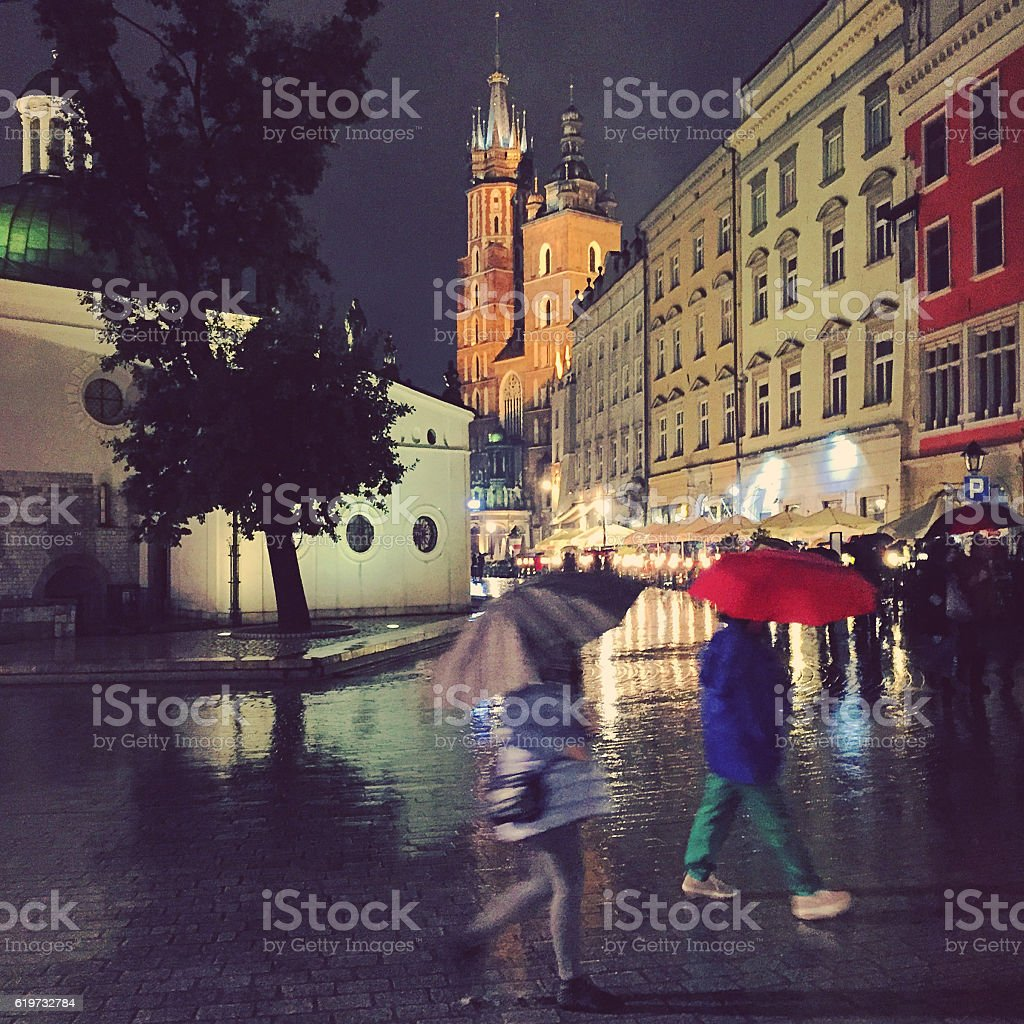 Autumn season in Poland stock photo
