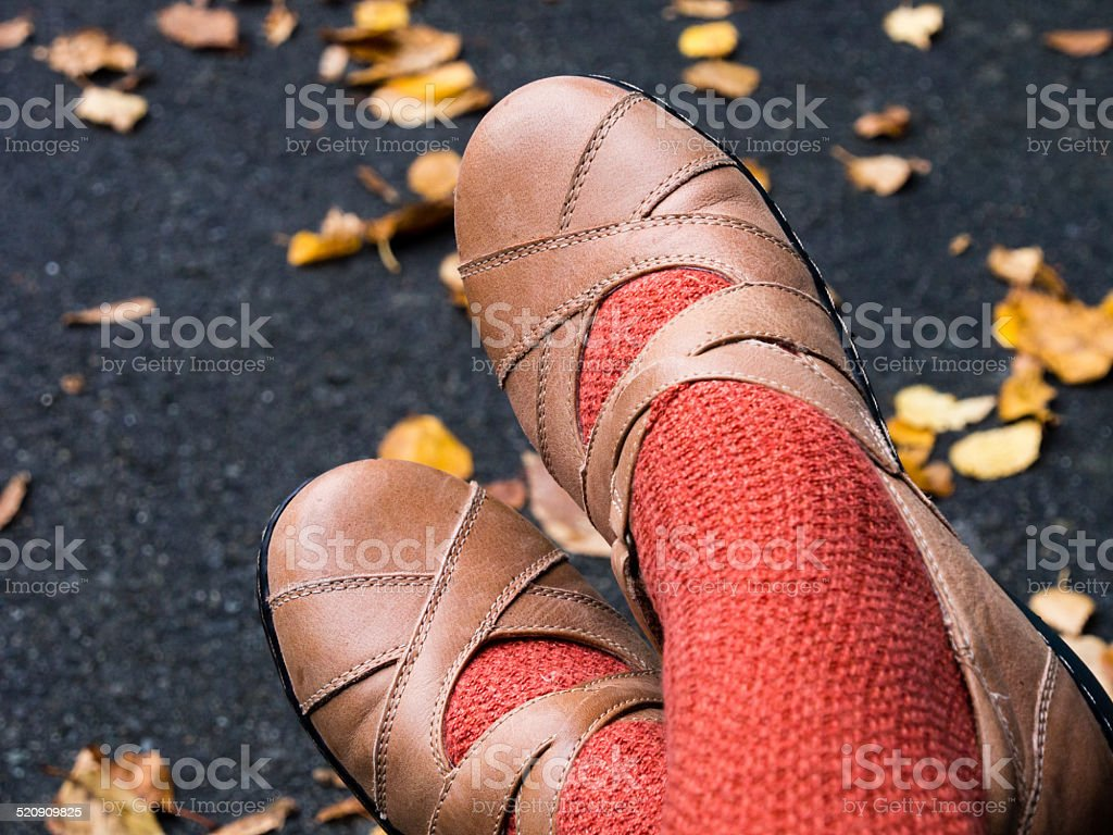 Autumn shoes stock photo