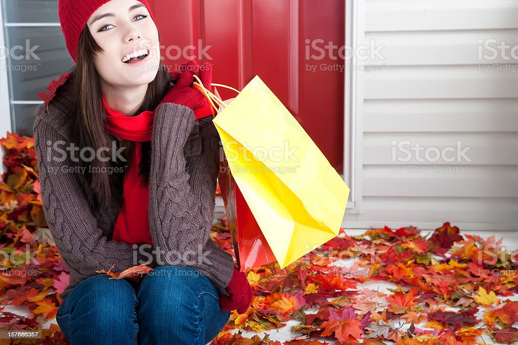Autumn Shopping royalty-free stock photo