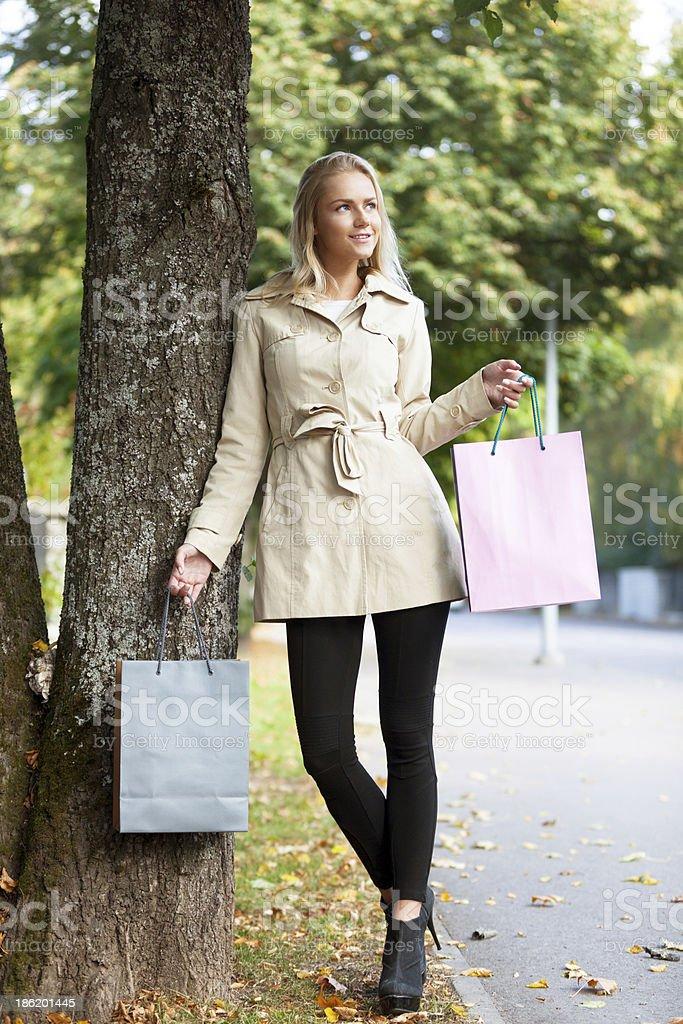 Autumn shopping royalty-free stock photo