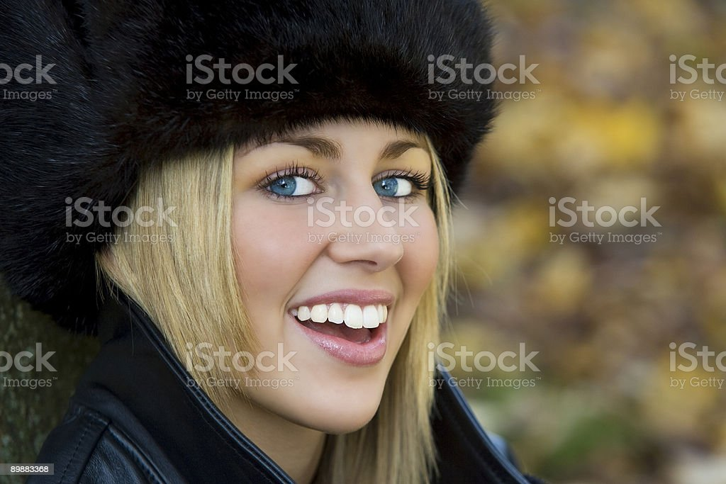 Autumn Smiles royalty-free stock photo