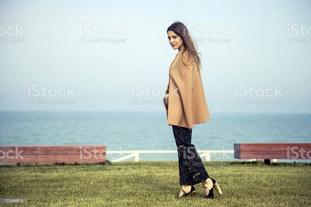 Autumn / Spring outfit on a beautiful woman royalty-free stock photo