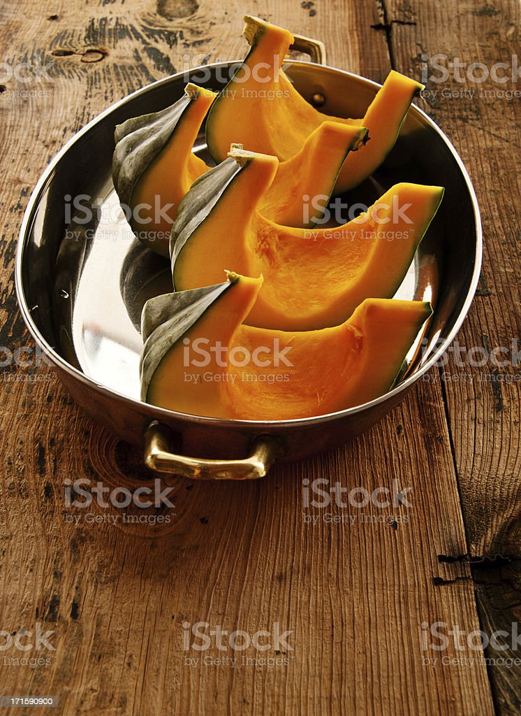 Autumn Squash and Pumpkin on Old Wooden Table royalty-free stock photo