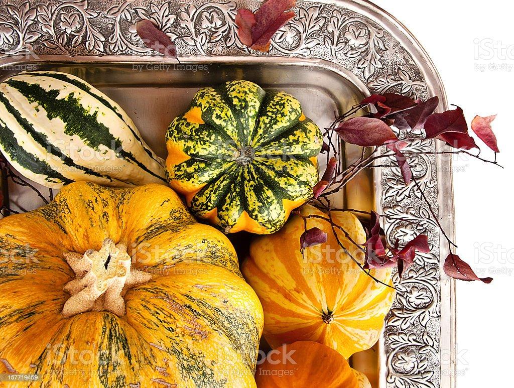 Autumn Squash and Pumpkin Stil Life royalty-free stock photo