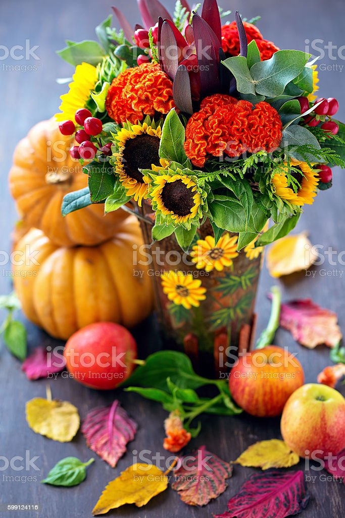 Autumn still life. stock photo