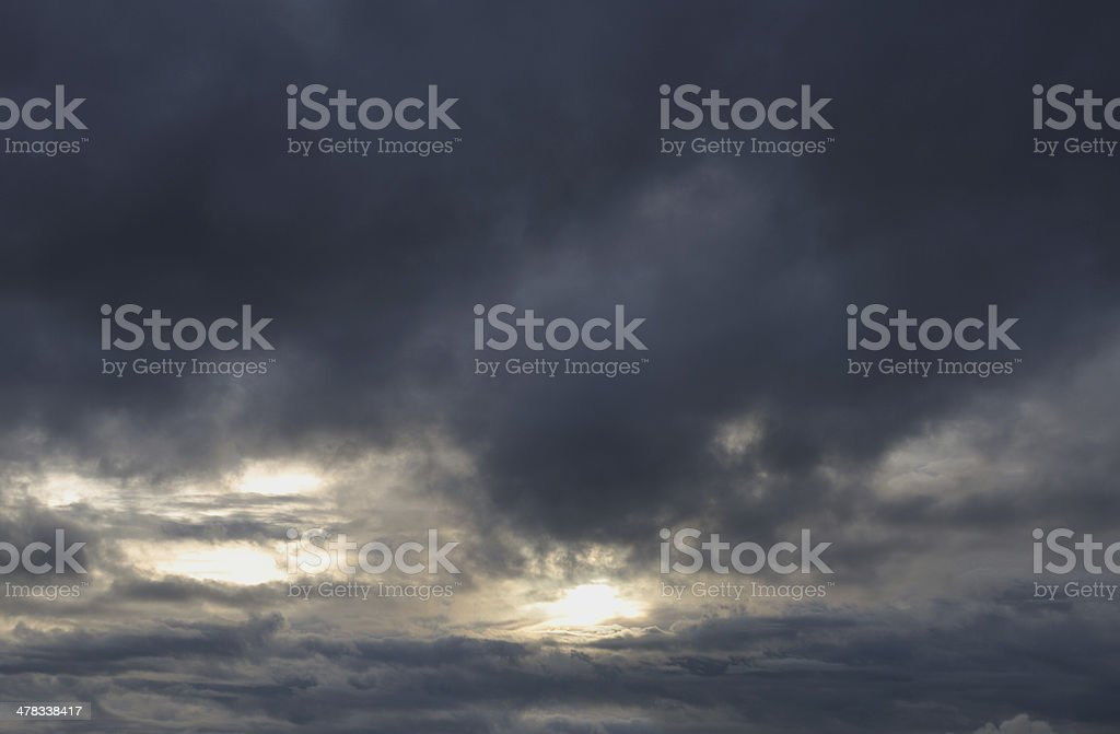 Autumn Storm Clouds royalty-free stock photo