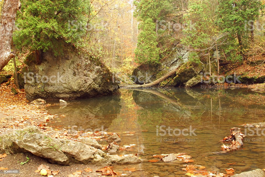 Autumn Stream Through The Rocks 3 stock photo