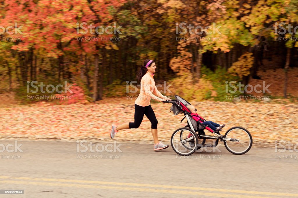 Autumn Stroller Run stock photo