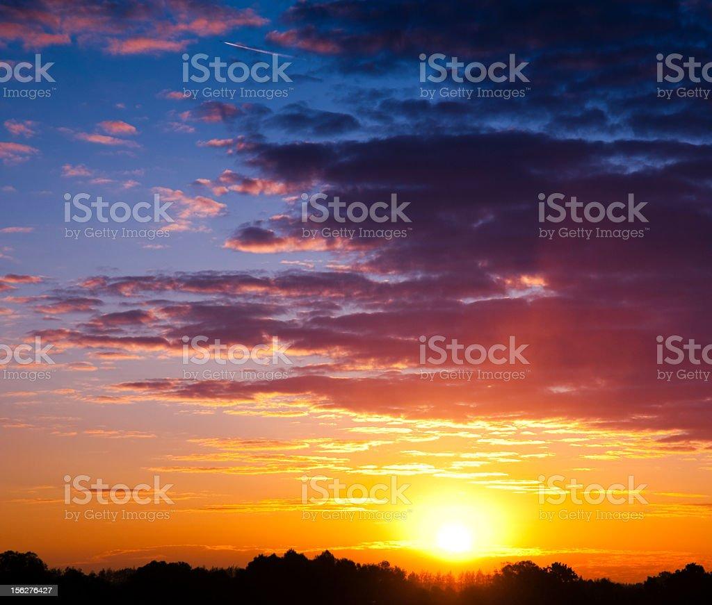 Autumn Sunrise royalty-free stock photo