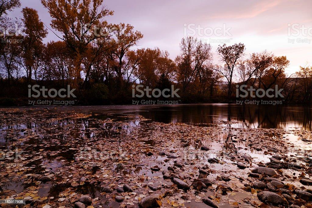Autumn sunrise stock photo