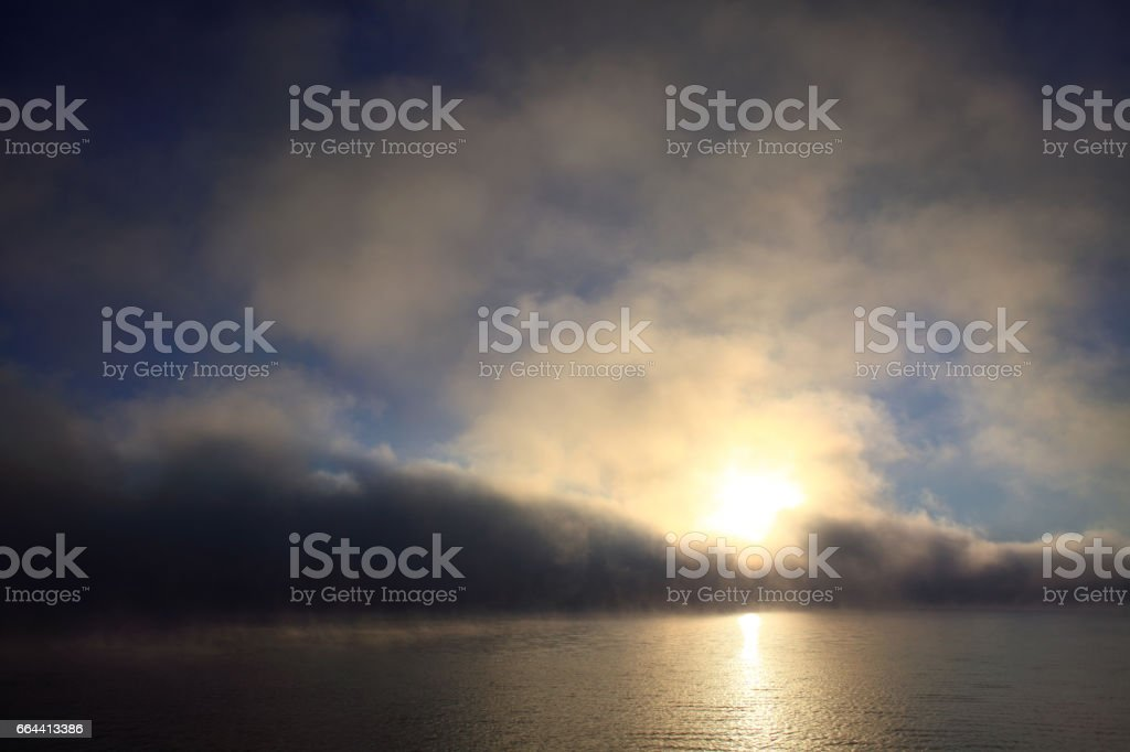 Autumn sunrise stock photo