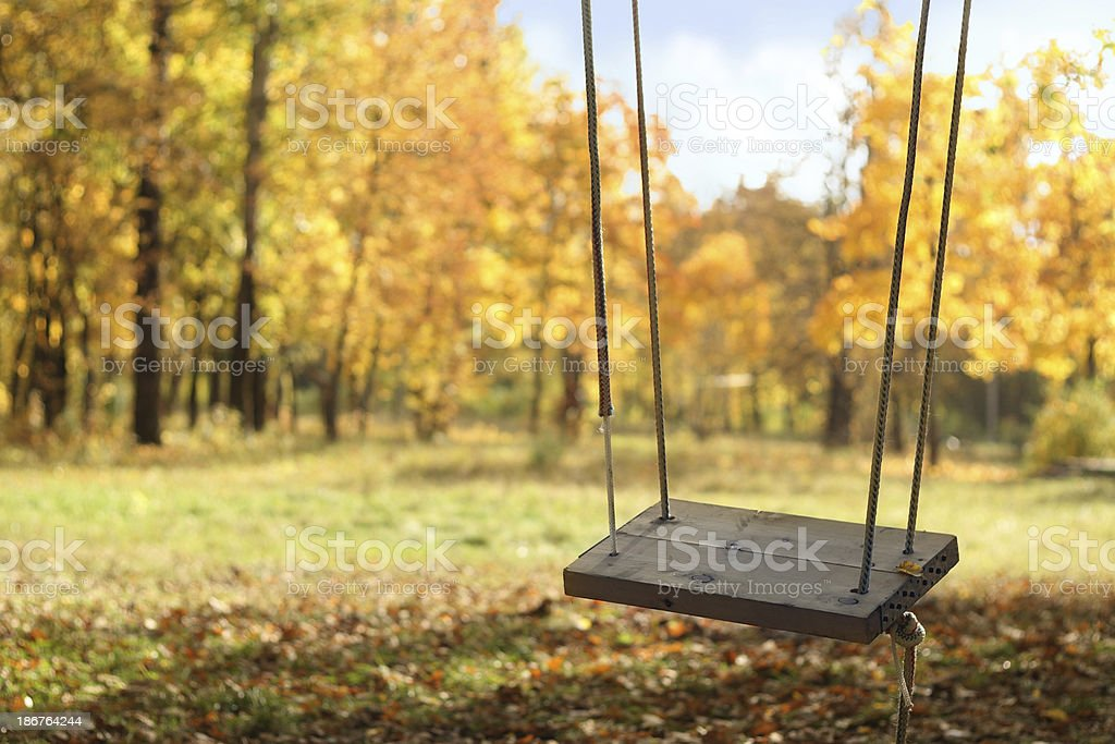 Autumn swing royalty-free stock photo