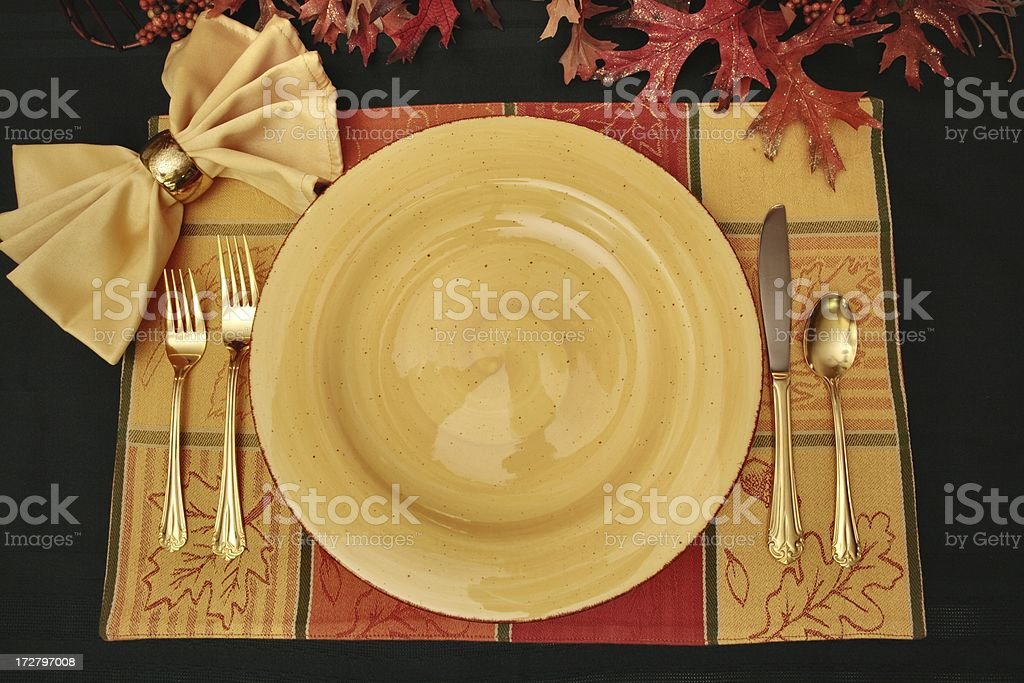 Autumn Table Series with golden tones royalty-free stock photo