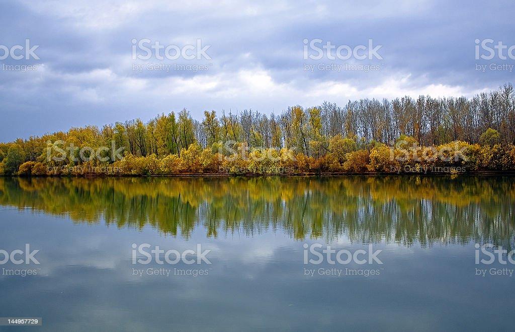 Autumn. The rivers Pojma before a rain. royalty-free stock photo