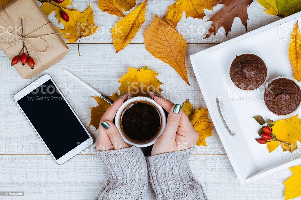 Autumn theme background stock photo