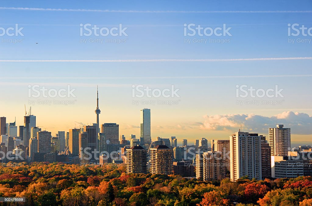 Autumn Toronto stock photo