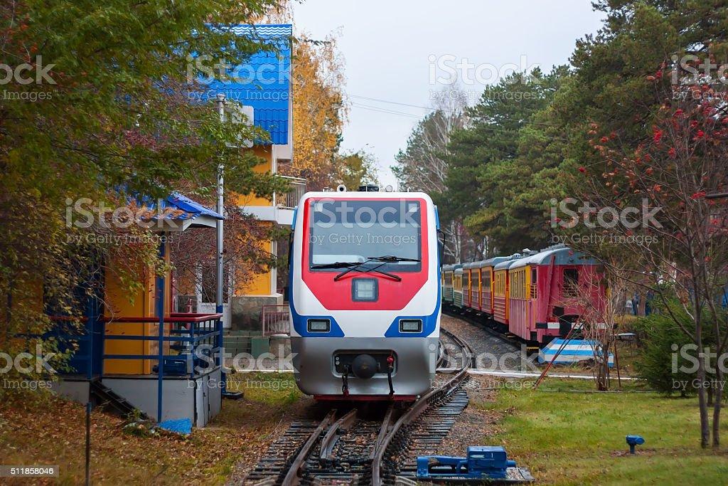Autumn train royalty-free stock photo