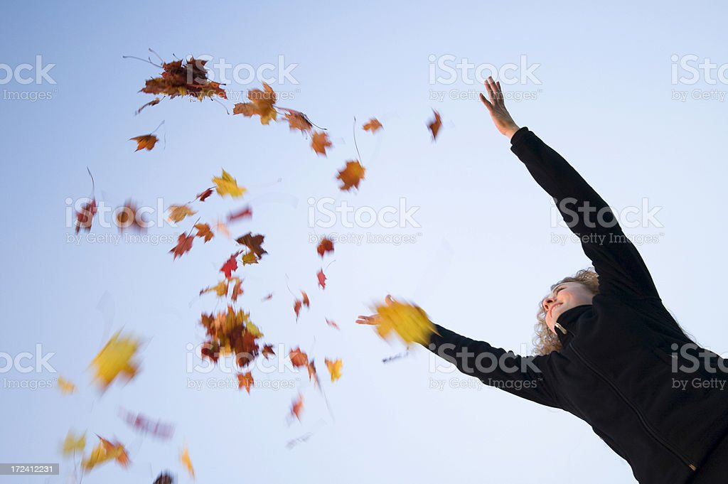 Autumn twirl royalty-free stock photo