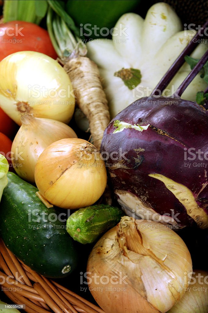 Autumn vegetables composition royalty-free stock photo