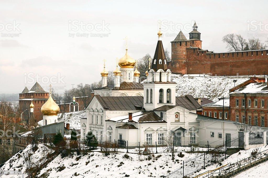Autumn view Church of Elijah the Prophet in Nizhny Novogorod stock photo