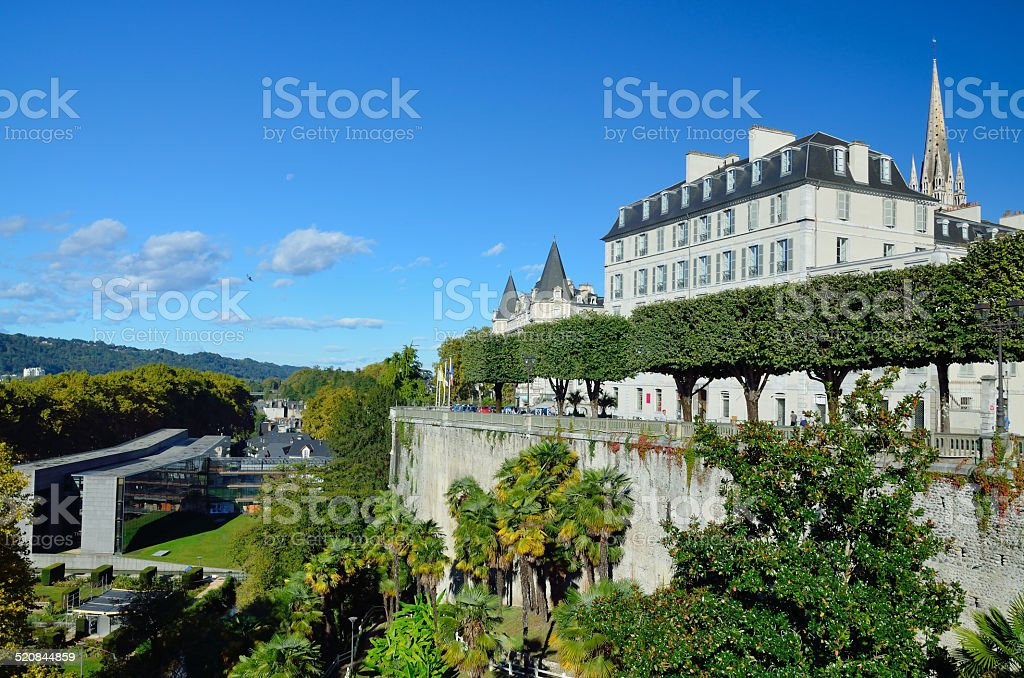 Autumn view of the French city Pau stock photo