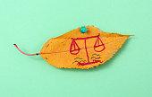 autumn walnut leaves with handwritten text