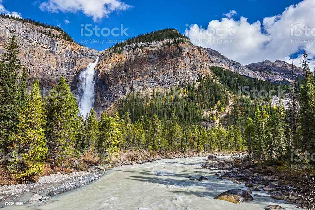 Autumn water flow of pearl color stock photo