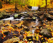 Autumn waterfall in New York (P)