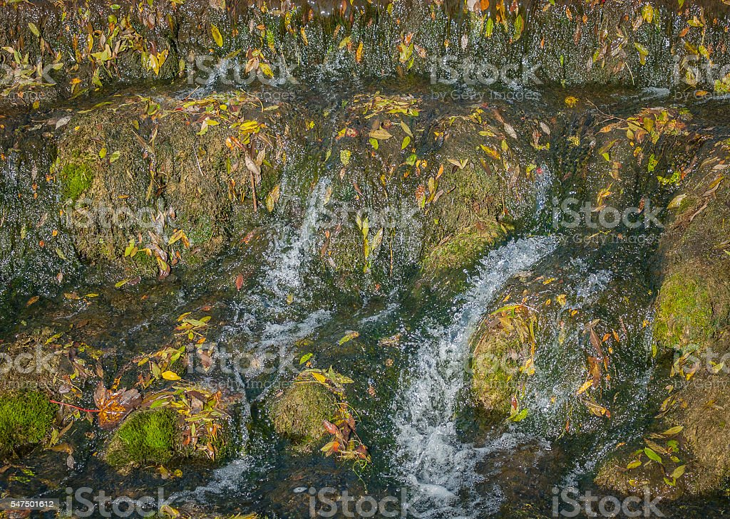 Autumn Weir stock photo
