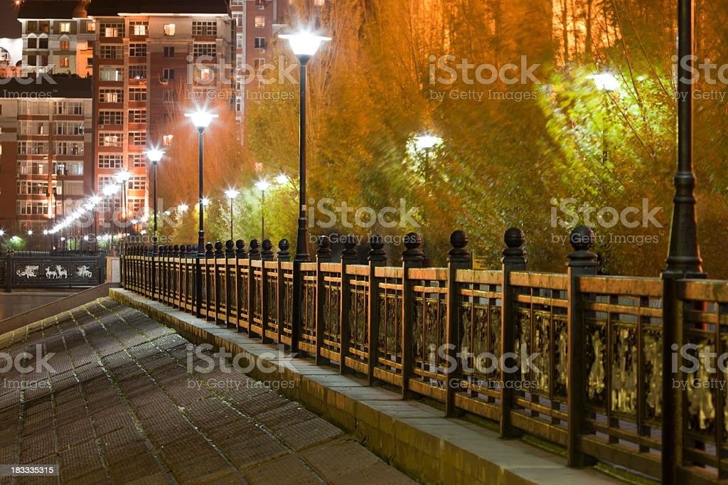 Autumn Wind: Astana Night royalty-free stock photo