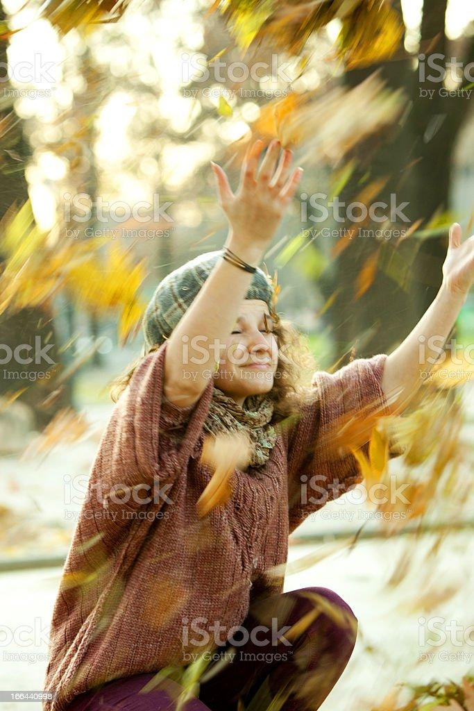 autumn wind royalty-free stock photo