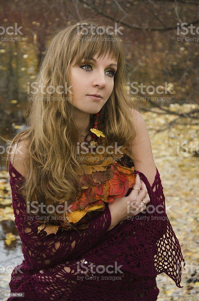 Outono Bruxa foto de stock royalty-free