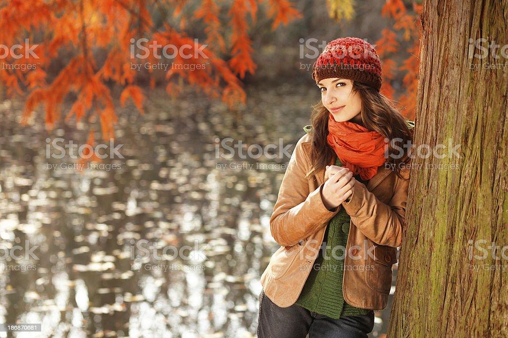 autumn woman royalty-free stock photo